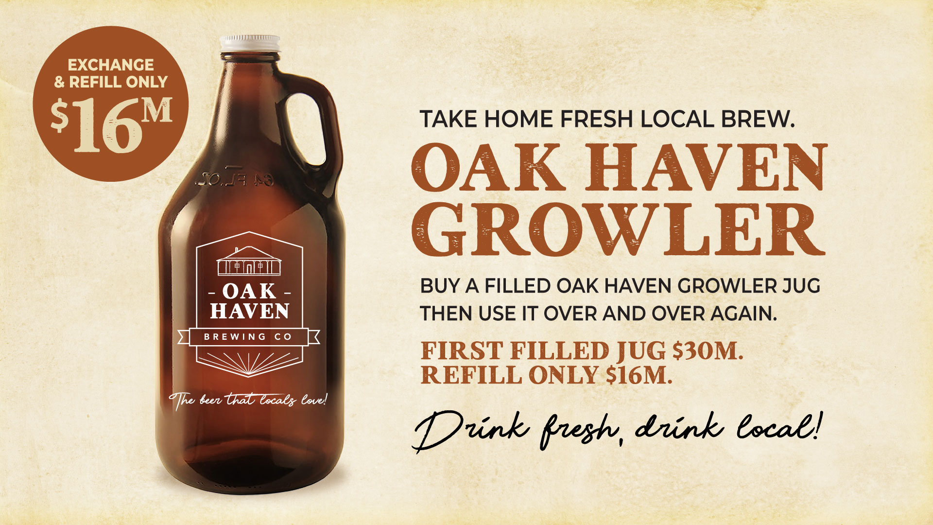 oak haven growler